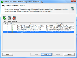 Report exports in PDF/HTML for printout, emailing or web publishing